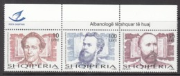 2013 Albania Albanie Historians  Complete  Strip Of 3 MNH - Albanië