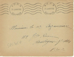 SAUMUR Machine KRAG 1938 DREYFUSS (SAU405P) 1994 Cote 60F DEVANT SEUL - Poststempel (Briefe)