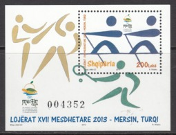 2013 Albania Albanie Mediterranean Games Rowing Souvenir Sheet  MNH - Albanie
