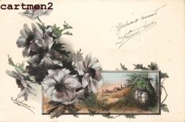 RARE CPA : CATHARINA KLEIN CARTE ILLUSTREE FLEURS ET PAYSAGE 1900 - Klein, Catharina