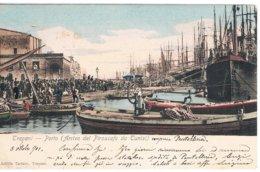 B3386 - Trapani, Porto Di Arrivo Del Piroscafo Da Tunisi , Viaggiata 1901, FP - Trapani