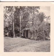 Foto Getarnte Hütte - 2. WK -  5,5*5,5cm (43871) - Krieg, Militär