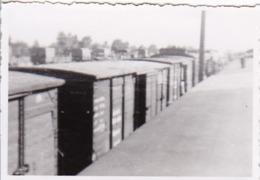 Foto Bahnwaggons Und Lastwagen - 2. WK -  8*5cm (43874) - Krieg, Militär