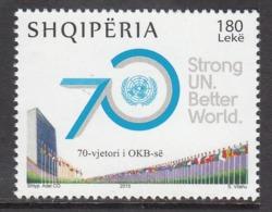 2015 Albania Albanie UN United Nations  Complete Set Of 1  MNH - Albania