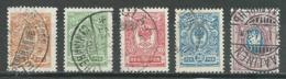 Finlande YT N°61/65 Oblitéré ° - 1856-1917 Russian Government