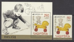 2015 Albania Albanie Europa Childrens Toys  Complete Set Of 1 + Souvenir Sheet MNH - Albanië