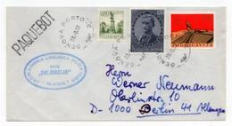 1982 YUGOSLAVIA, SHIP MAIL, MS DALMACIJA, CANCELATION IN ITALY, GENOVA PORTO - Brieven En Documenten