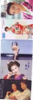 5 Telecartes GEISHA - Femme - Women - Frau-( A-201) - Costume Traditionnel / Tradional Costume- KIMONO - Japan