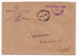 1954 YUGOSLAVIA, CROATIA, LUCKO TO ZAGREB, ARMY MAIL - 1945-1992 Socialist Federal Republic Of Yugoslavia