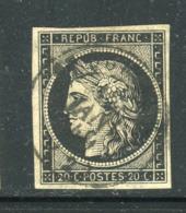 Superbe Et Rare N° 3a - Cachet à Date De St Quention ( Aisne - 12 Janvier 1849 ) - 1849-1850 Cérès