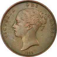 Monnaie, Grande-Bretagne, Victoria, Penny, 1853, TTB, Cuivre, KM:739 - 1816-1901: 19. Jh.