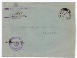 1954 YUGOSLAVIA, SLOVENIA, AJDOVSCINA TO ZAGREB, ARMY MAIL - 1945-1992 Socialist Federal Republic Of Yugoslavia