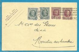 "193 Op Entier Stempel CHARLEROY Met Firmaperforatie (perfin) ""C.M.N."" Van CHARBONNAGE DE MARCIENELLE-NORD - Perfins"