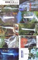 10 Telecartes Japon Chute D'eau - WATERFALL – Watervallen - WASSERFALL ( Lot A- 163) - Paisajes