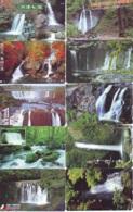 10 Telecartes Japon Chute D'eau - WATERFALL – Watervallen - WASSERFALL ( Lot A- 164) - Paysages