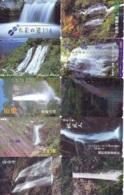 10 Telecartes Japon Chute D'eau - WATERFALL – Watervallen - WASSERFALL ( Lot A- 170) - Paisajes