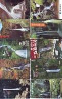 10 Telecartes Japon Chute D'eau - WATERFALL – Watervallen - WASSERFALL ( Lot A- 173) - Paysages