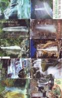 10 Telecartes Japon Chute D'eau - WATERFALL – Watervallen - WASSERFALL ( Lot A- 175) - Paysages