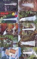 10 Telecartes Japon Chute D'eau - WATERFALL – Watervallen - WASSERFALL ( Lot A- 182) - Paisajes
