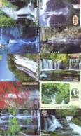 10 Telecartes Japon Chute D'eau - WATERFALL – Watervallen - WASSERFALL ( Lot A- 183) - Paisajes