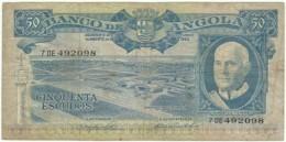 Angola - 50 Escudos - 10.06.1962 - Pick 93 - Série 7 DE - Américo Tomás - PORTUGAL - Angola