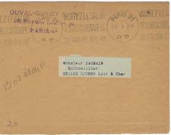 PARIS 21 Machine KRAG 1928 DREYFUSS (B021104P) 1994 Cote 400F DEVANT SEUL - Poststempel (Briefe)