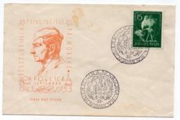 1953 YUGOSLAVIA, SLOVENIA, OKROGLICA, NOVA GORICA, SPECIAL COVER,, SPECIAL CANCELATION - 1945-1992 Socialist Federal Republic Of Yugoslavia