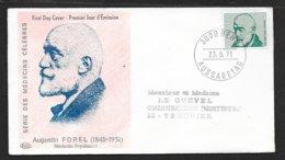 Suisse Lettre Illustrée  FDC Premier Jour Bern 23/9/1971  N°886 Et 887 Publicité Médicaments TB Le Moins Cher Du Site ! - Pharmacy