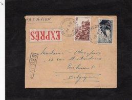 LSC 1941 - Cachet PARIS XIV  ANNEXE III Sur Timbres & étiquette Et Griffe EXPRES - Storia Postale