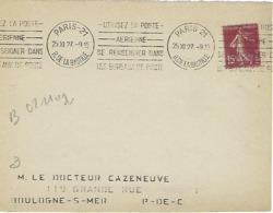 PARIS 21 RUE DE LA BASTILLE KRAG 1927 DREYFUSS (B021102) 1994 Cote 30F DEVANT SEUL - Annullamenti Meccanici (pubblicitari)