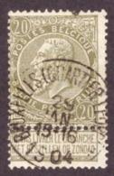 Belgique 1893-1900   Fine Barbe 20c Réséda - 1893-1900 Fine Barbe
