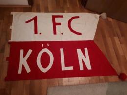 Old Sport Flag - F.C. Koln,  About  140 X 105 Cm,  RRR - Apparel, Souvenirs & Other