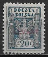 Levant Bureaux Polonais 1919 N° 5 Neuf* MH Cote 80 Euros - Levant (Turquie)