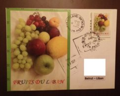 Special Cover Sent From France To Lebanon With Personalized Stamps Les Fruits Du Liban 2019 - Lebanon