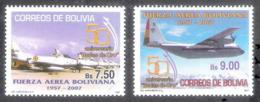 630  Fighters - Avions - Bolivia Yv 1303-04 - MNH - 3,25 (9) - Avions