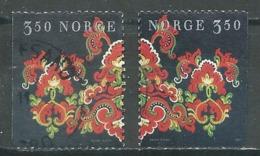 Norvège YT N°1185/1186 Noel 1996 Oblitéré ° - Norvège