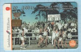 LATVIA / Phonecard / Phone Card / Basketball. National Team 1935. 2000 - Sport
