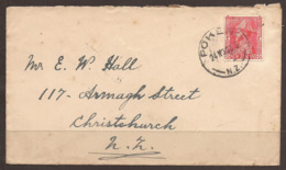 NEW ZEALAND. 1930. GV. COVER. POKENO POSTMARK & MERCER TRANSIT. - 1907-1947 Dominion