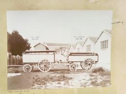 CREIL GRANDE PHOTOGRAPHIE : SOCIETE INDUSTRIELLE FOUR ACTUELLE ET FOUR TRANSFORME CHARETTE CHARIOT 1896 OISE 60 - Creil