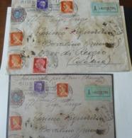 1930 _  5 LIRE DELL' AQUILA SABAUDA SU BUSTA RACC.+ ASSICURATA  CERTIFICATA + EMISSIONI DIVERSE - 1900-44 Vittorio Emanuele III