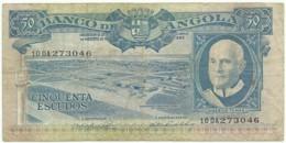 Angola - 50 Escudos - 10.06.1962 - Pick 93 - Série 10 DA - Américo Tomás - PORTUGAL - Angola