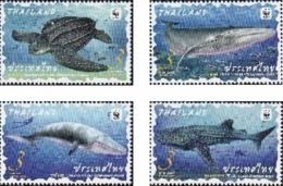 Thailand 2019 WWF Wild Animals 4v Mint - Thailand