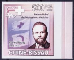 Nobel Medicine Winner Otologist Robert Barany, Guinea Bissau 2009 MNH Imperf     ( - Nobel Prize Laureates
