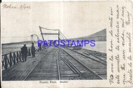 121157 PERU ETEN PUERTO PORT & RAILROAD POSTAL POSTCARD - Pérou