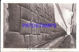 121159 PERU CUZCO STREET CALLE INCAICA POSTAL POSTCARD - Peru
