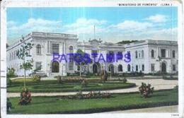 121179 PERU LIMA MINISTERIO DE FOMENTO BREAK CIRCULATED TO ARGENTINA POSTAL POSTCARD - Peru