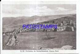 121182 PERU CUZCO FORTALEZA DE SACSAYHUAMAN CIRCULATED TO ARGENTINA POSTAL POSTCARD - Peru