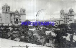 121184 PERU CUZCO VISTA PANORAMICA DE LA PLAZA DE ARMAS CIRCULATED TO ARGENTINA POSTAL POSTCARD - Peru