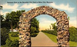 Montana Miles City City Park Entrance Arch - Miles City