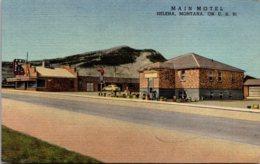 Montana Helena Main Motel 910 North Main Curteich - Helena